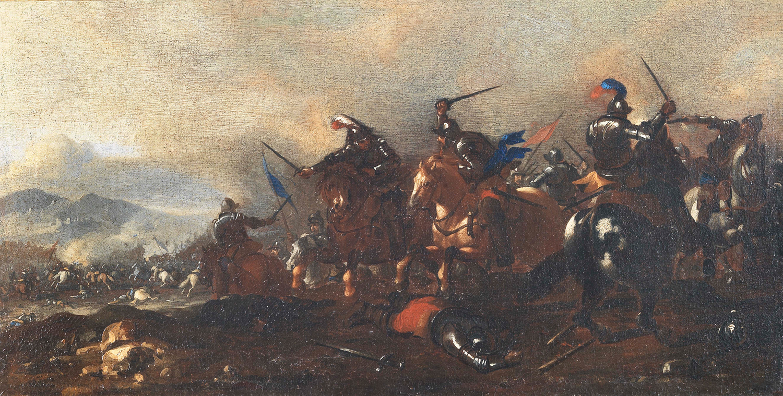 Cavalry Battle Jacques Courtois Called Borgognone